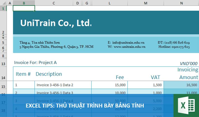 Excel Tips: 5 tips cơ bản trình bày file Excel chuyên nghiệp
