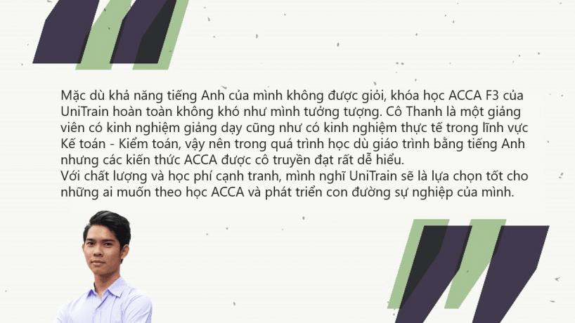 Cảm nhận học viên: Trần Minh Tâm