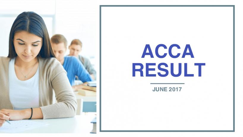 ACCA thông báo kết quả kỳ thi tháng 06/2017