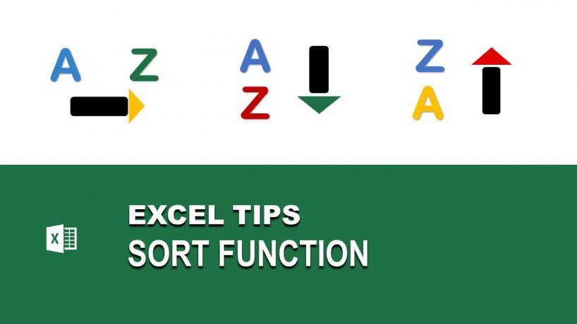 Chức năng SORT trong Excel – Cách sắp xếp dữ liệu từ trái sang phải