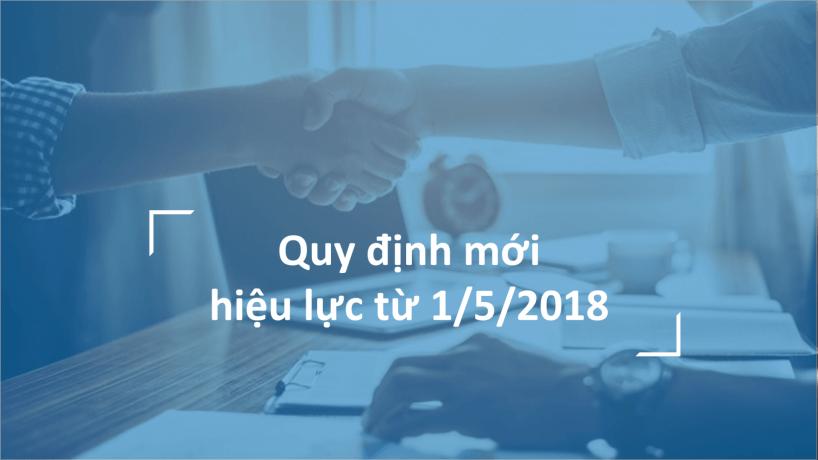 3 chính sách thuế, kế toán, kiểm toán có hiệu lực từ 1/5/2018