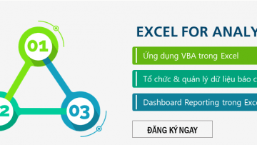 Excel for Analysts – Combo 3 khóa học kỹ năng Excel