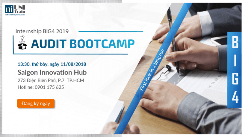 Audit Bootcamp – First look in a long run – Internship Big4 2019