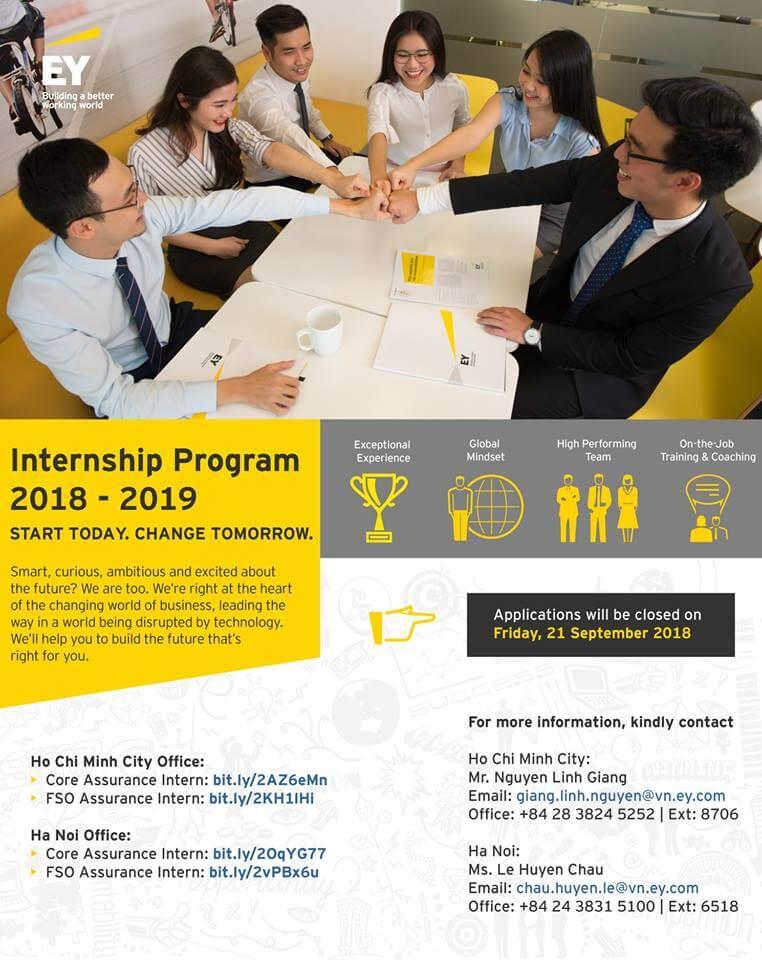 EY Internship Program 2018 – 2019