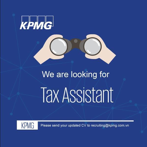 [HCM] – KPMG is hiring Tax Assistant 2018