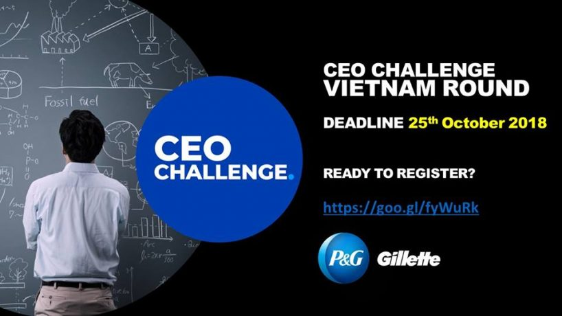 P&G CEO Challenge 2018 – Make an impact beyond your campus