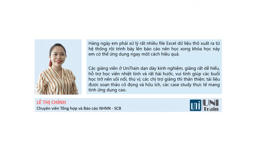 Cảm nhận học viên: Lê Thị Chính