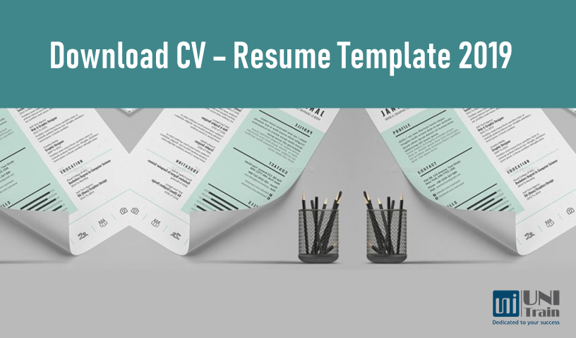 Download CV – Resume Template 2019