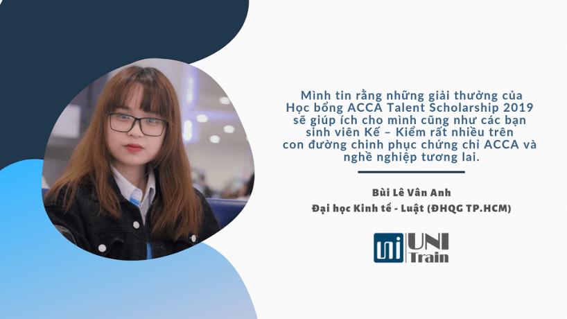 Cảm nhận học bổng: Bùi Lê Vân Anh
