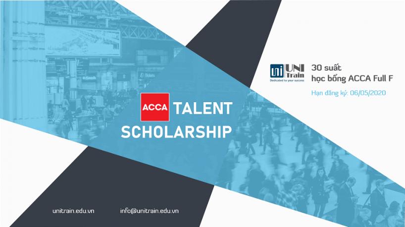 Học bổng UniTrain – ACCA Talent Scholarship 2020