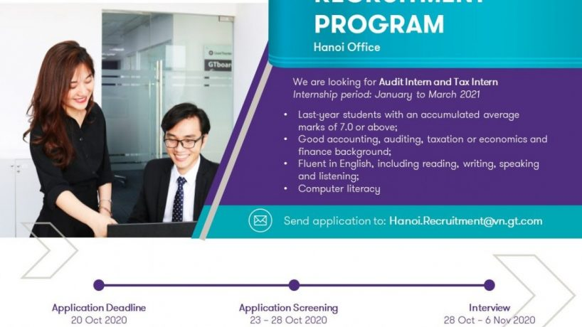 [Grant Thornton – Hanoi Office] Audit Internship Program