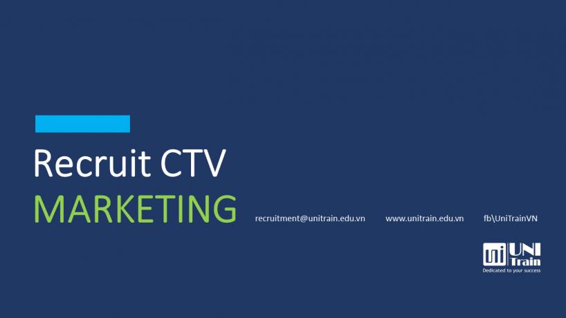 [UniTrain] Tuyển dụng CTV Marketing