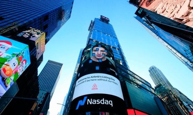 Airbnb tăng vọt lên mức định giá gần 100 tỷ USD do cổ phiếu tăng gấp đôi trong đợt IPO