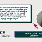 Cảm nhận Giải nhất học bổng ACCA Talent Scholarship 2021