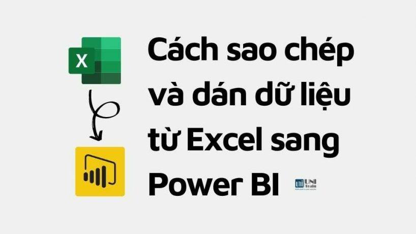 Cách sao chép và dán dữ liệu từ Excel sang Power BI