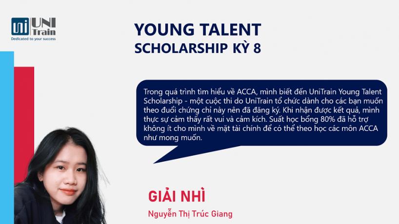 Cảm nhận Giải Nhì Học bổng Young Talent Scholarship kỳ 8