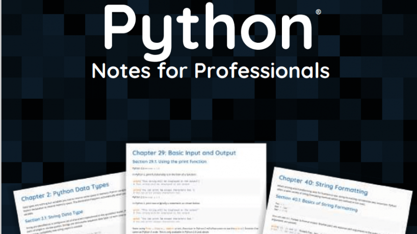[Download tài liệu] Python Notes for Professionals