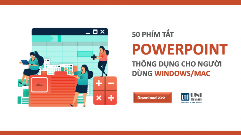 50 phím tắt PowerPoint thông dụng cho người dùng Win/Mac